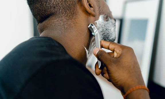 Folliculitis is an infection that forms in hair follicles and can be caused by shaving.